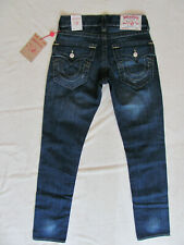 True Religion Slim Jeans-Flap Pockets-Multi Stitch-Lost Lagoon-Size 29-NWT $199