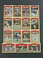 """(Lot of 15)1972 Topps Baseball Cards(Stars """"IN-ACTION"""" Only)EX-NM & NM Condition"""