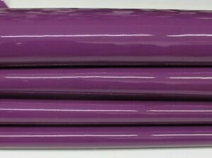 PATENT BYSANTIUM PURPLE Upholstery CALF cow Leather skin 13+sqf 1.1mm #P13