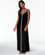 NWT Raviya Swim Swimsuit Cover Up Embroidered Maxi Dress Black Size XL