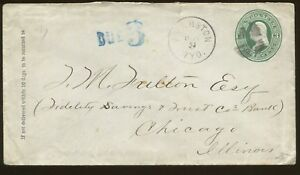 1870 Evanston Wyoming Territory to Chicago Fidelity Savings & Trust Bank Cover