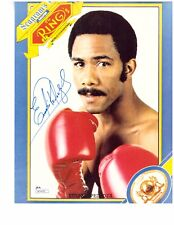 EUSEBIO PEDROZA Autograph 8 x 10 Photo JSA Certified Boxing