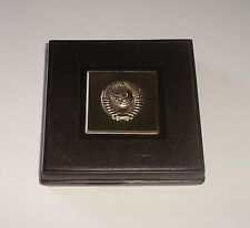 LENIN 925 SILVER TABLE MEDAL 50 YEARS OF USSR NEW IN ORIGINAL BOX