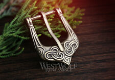 Viking Tri-Knot Design Belt Buckle - Small Size -- Norse/Celtic/Antique/Bronze