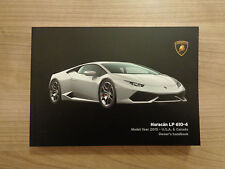 Lamborghini Huracan LP 610-4 Owners Handbook/Manual U.S.A and Canada Version