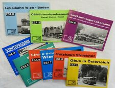 Slezak Verlag - Konvolut - ESA - 9 Hefte - Bahnbücher - Bus - Lokomotiven (R)