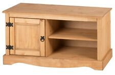 Corona TV Unit 1 Door Media TV Stand Cabinet Solid Pine by Mercers Furniture®