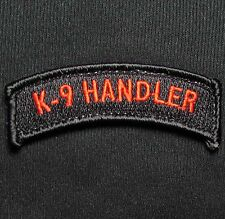 K9 HANDLER TAB BLACK OPS RED POLICE SWAT TACTICAL MILITARY VELCRO MORALE PATCH
