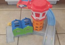 Fisher-Price Little People Airplane Helicopter Rampway Garage Hanger Playset