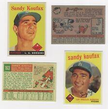 BASEBALL LOT SALE SANDY KOUFAX THE 1958  1959   TOPPS  BROOKLYN TO LA DODGERS