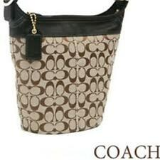 COACH SIGNATURE DUFFLE BLEEKER HOBO,BAG, STYLE #11437