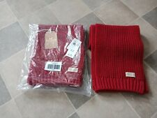 HOLLISTER MEN SCARF 100% ACRYLIC RED COLOR