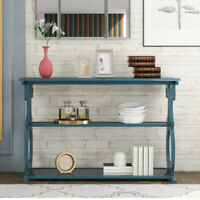 48'' Accent Console Table Sideboard Buffet w/ 3Tier Shelf Entryway Hall Display