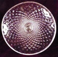 Antique Cake Stand Sawtooth Pattern Early American Pressed Glass Sauce Lip Nice