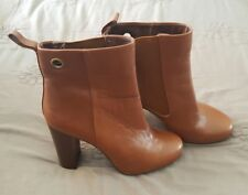 MASCOTTE Ankle Boots Genuine leather Brown Heel Nina Proudman Style Size 35   2