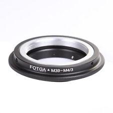 Leica M39 39MM Screw Lens to Micro 4/3 M43 Adapter Ring E-P5 GF3 GF6 GX7 E-PL5