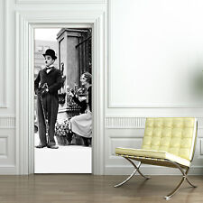 PT0144 Wall Stickers Adesivi Murali Porte decorate Charlie Chaplin 2 100x210