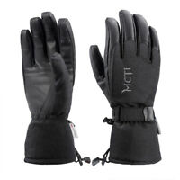 -38℃ Waterproof Winter Ski Snowboard PU Leather Thinsulate Gloves Mens Large