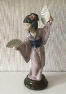 Lladro 4991 Japanese Girl With Fan