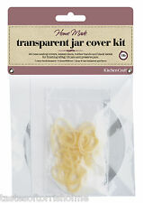Kitchen Craft 1lb Jam Making Jar Covers, Wax Discs, Labels etc x 24 Jars Kit