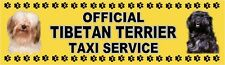 TIBETAN TERRIER OFFICIAL TAXI SERVICE Dog Car Sticker  By Starprint
