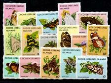 COCOS (KEELING) IS. SG84/99 1982-3 BUTTERFLIES & MOTHS DEFINITIVE SET MNH