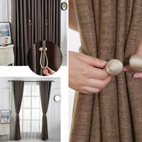 2x Ball Magnetic Curtain Buckle Holder Tieback Clips Home Window Accessories