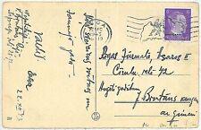GERMANY: OSTLAND -  POSTAL HISTORY - Postcard from RIGA : LATVIA - Maps 1943