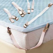 Elastic Bed Sheet Holder Fasteners Blankets Bedding Strap Grippers Metal Clips