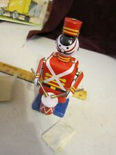 Vintage Red China Shanghai Marching Drummer Wind-up Tin Toy MS250