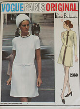 VTG UNCUT 1960's Vogue Paris Original Dress Pattern 2360 Pierre Balmain size 12