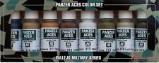 Vallejo Panzer Aces paint set number 2 ~ VAL70123 (Wood, leather, stencil...)