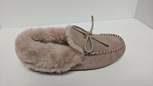 Deerfoams Moccasin Slippers, Pink, Women's 7 M