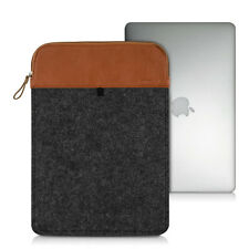 "kwmobile Laptop Sleeve Filz Dunkelgrau für Apple MacBook Air 13"" (ab Mitte 13,3"