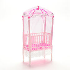 1 Pcs Fashion Crib Baby Doll Bed Accessories Cot for Barbie Girls Gifts  ue