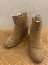 APC Suede Beige Ankle Crepe Sole Zip Shoes Sz 8.5