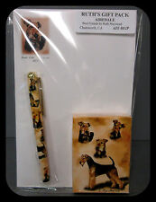 New Airedale Terrier Dog Playing Card Pen & Note Pad Set By Ruth Maystead Dogs