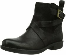 NEW Clarks Womens Leather Ankle boots BLACK MERRYN TRAIL Vintage Lined Winter