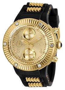 Invicta Women's Angel 29517 Gold with Black Strap 40mm Watch