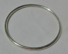 Small size 6 Genuine 925 sterling silver Gypsy, Golf  style tube Bangle