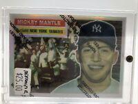 1996 Topps Reprints- Refractor  #6 Mickey Mantle 1956 Topps & Topps 1956  #135