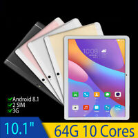 10'' Tablet PC Android 8.1 Octa 10Core 64/128GB 10 Inch HD WIFI 2 SIM 4G Phablet
