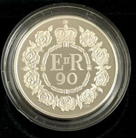 2016 QEII 90th BIRTHDAY PIEDFORT SILVER PROOF £5 CROWN - Complete