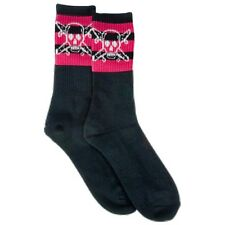 Fourstar Pirate Stripe Skateboard Socks 1 Pair Black/Pink