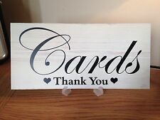 Wedding CARDS post box table sign with Stand vintage shabby n chic free P&P