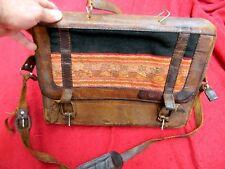 Vintage BHL Leather Postal Messenger Bag Backpack Will Briefcase Made Bolivia?