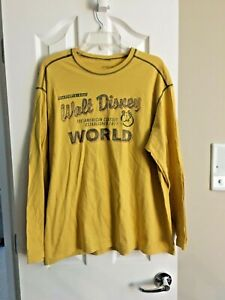 The Original Walt Disney World 1971 Mickey Mouse Long Sleeve Shirt Sz XL - GUC