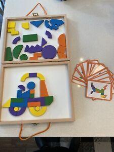 Mindware Imaginets Imaginative Educational Play Wooden Magnetic Shapes Autism