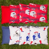 Cornhole Bean Bags Set of 8 ACA Regulation Bags New England Patriots