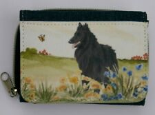 More details for groenendael belgian shepherd sheepdog canvas fabric purse wallet sandra coen art